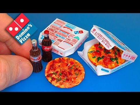 Domino's Pizza How to make a mini Pizza with box DIY – Tutorial