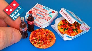 Domino's Pizza How to make a mini Pizza with box DIY - Tutorial