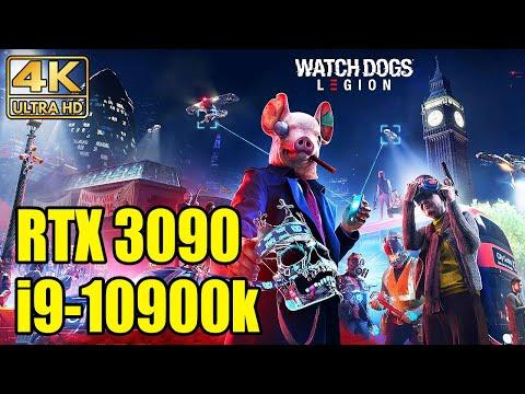 Watch Dogs: Legion - RTX 3090 + i9-10900K (Benchmark) 4K Ultra Ray Tracing