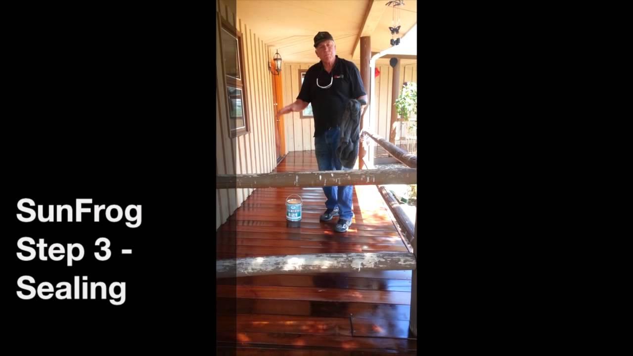 Step 3 sealing a wood deck youtube step 3 sealing a wood deck baanklon Gallery