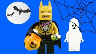 Halloween Trick Or Treat Lego Batman Visits Haunted House Scooby Doo Mystery Mansion + Ghostbusters