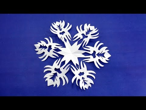 DIY Paper Christmas Snowflakes | How To Make An Easy Snowflakes In 5 Minutes | 3D Paper Snowflakes
