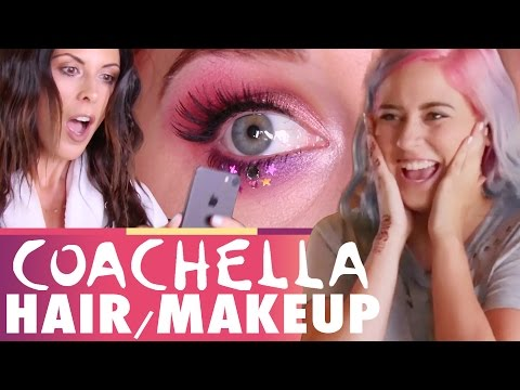 Getting Ready With Us: COACHELLA!! (Beauty Trippin)
