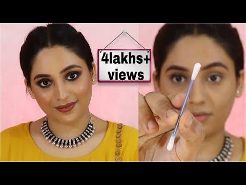 rakshabandhan-hair-makeup-under-₹250-for-all-skin-types-in-hindi-||-smokey-eye-makeup-using-q-tip-||