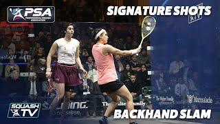 Squash: Signature Shots - Nour El Tayeb - Backhand Slam