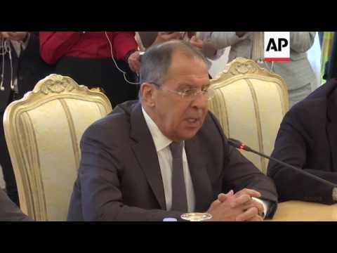 Lavrov, de Mistura on Syria peace talks