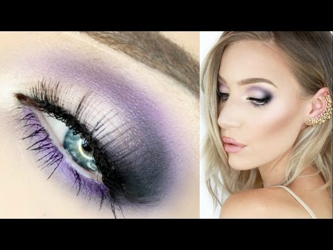 Electric Purple Smokey Eyes Tutorial! (Good for Hooded Eyes) | Stephanie Lange