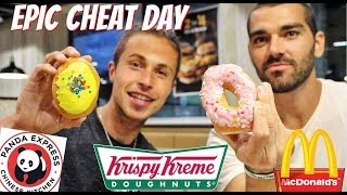 CHEAT DAY I DONUTS with NICK DOMPIERRE I MC DONALDS I PANDA EXPRESS
