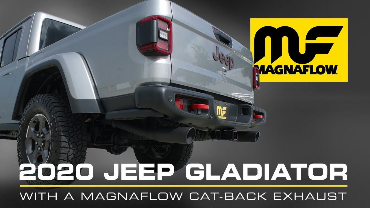 hear the sound 2020 2021 jeep gladiator with a magnaflow cat back exhaust part 19487