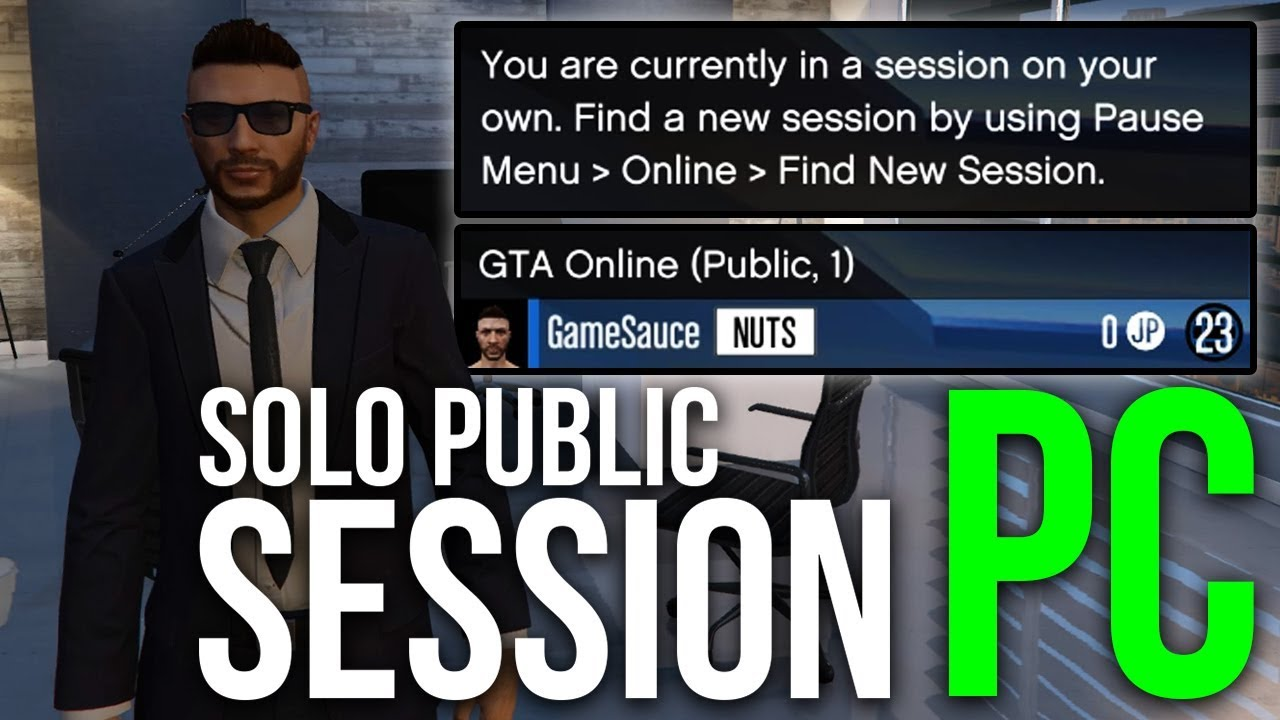 how to join a session on gta v