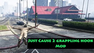 GTA V PC - Just Cause 2 grappling hook Mod