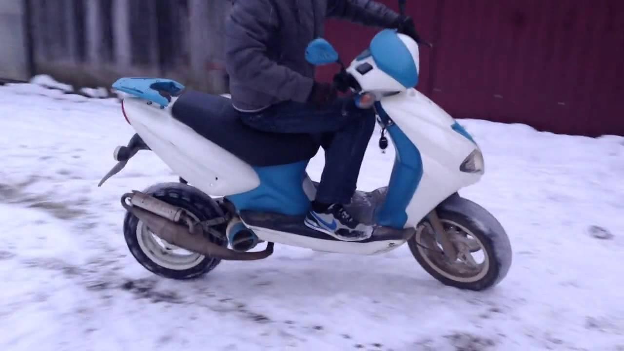 Viper Storm 150cc // Замена покрышки заднего колеса скутера (март .