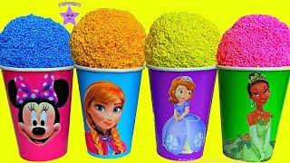 Frozen Anna Minnie Mouse Vasos Sorpresas de Play Foam Sofia Primera TIANA