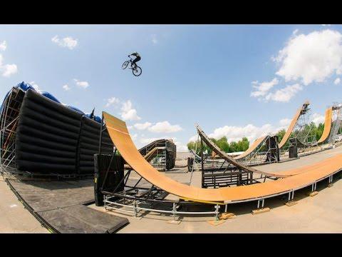 Girl Jumps The Nitro Circus Mega Ramp -  (Caroline Buchanan)
