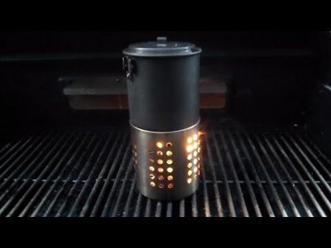 Alternative wood stove burn/boil test