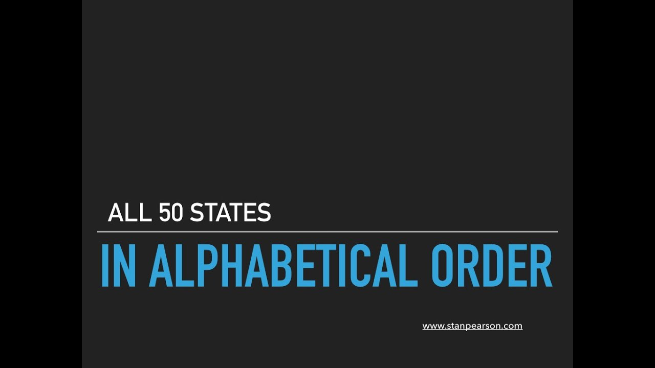 All 50 States in Alphabetical Order - YouTube All States Alphabetically on 50 states area, 50 states in order, 50 states color, 50 states search, 50 states by region, 50 states alphabet, 50 states capitals alphabetical, 50 states brand, 50 states date, 50 states by location, 50 states by size, 50 states alpha, 50 states year, 50 states alphabetized,