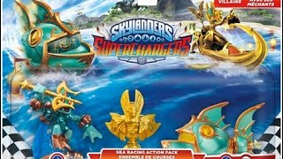 "Unboxing Skylanders Superchargers ""Sea Racing Action Pack"""