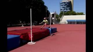 Первый раз в жизни прыжки в высоту Яна Зайцева