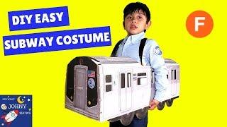 DIY MTA Subway Train Cardboard Costume MTA Trains For Kids