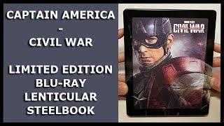 CAPTAIN AMERICA - CIVIL WAR - LIMITED 3D BLU-RAY LENTICULAR STEELBOOK UNBOXING - ZAVVI EXCLUSIVE