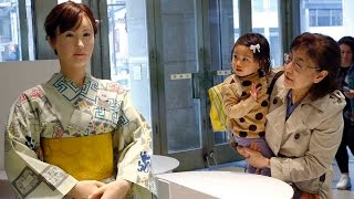 "Download Video Android Robot ""Aiko Chihira"" takes over as Receptionist of Tokyo Store MP3 3GP MP4"