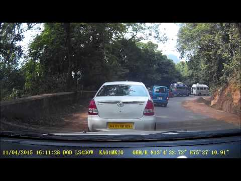 Driving on Ghat roads and giving way to bigger vehicles