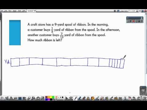 Singapore Math: A Spool of Ribbon [fractions bar model]