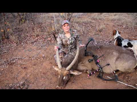 Girls Shoots a GIANT Water Buck - African Water Buck