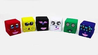 Распаковка Сюрпризов в коробочках оригами Игрушки из мультфильмов Littlest Pet Shop Видео для детей