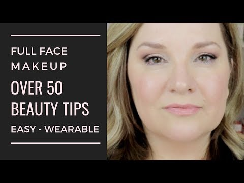 full face / easy every day makeup look for mature women