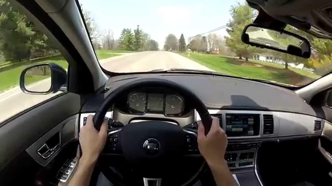 2014 Jaguar XF V6 Supercharged AWD - WR TV POV Test Drive - YouTube