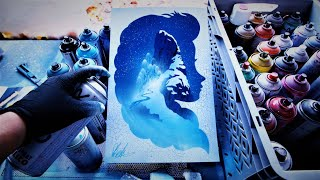 FROZEN - GLOW IN THE DARK - SPRAY PAINT ART by Skech