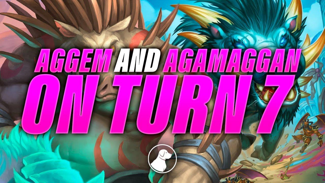 Aggem AND Agamaggan on Turn 7 | Dogdog Hearthstone Battlegrounds
