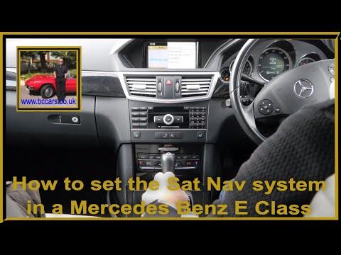 How to set the Sat Nav system in a Mercedes Benz E Class 2 1 E250 CDi Blue Efficiency Avantgarde 5dr