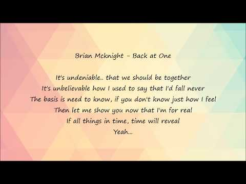 Brian Mcknight - Back at One [Lyrics]