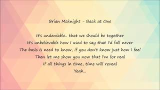 Video Brian Mcknight - Back at One [Lyrics] download MP3, 3GP, MP4, WEBM, AVI, FLV April 2018