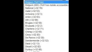 Belgium Virtual Number Database