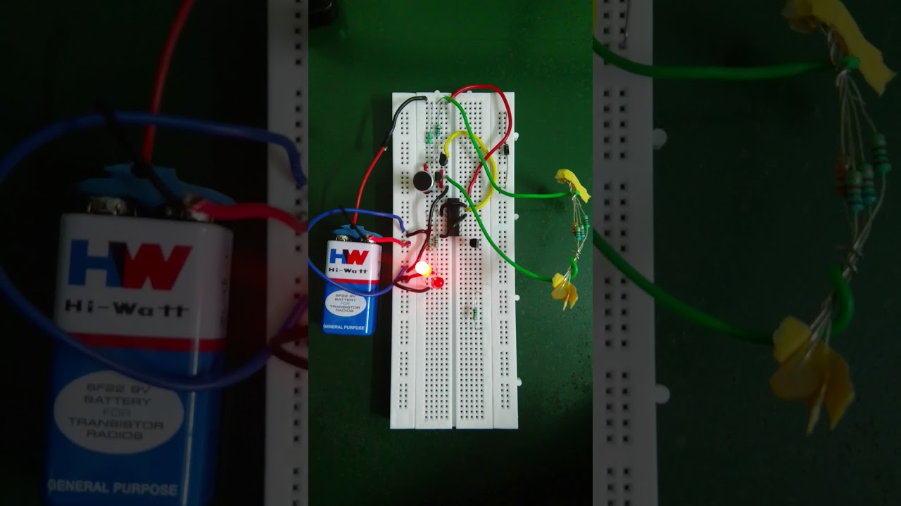 Clap Switch Using 555 Timer And 4017 Ic Transistor Youtube Circuit Double Homemade