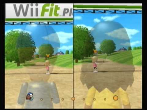 Wii Fit Plus Aerobics Playthrough Part 10-2: 2 Player Run, Long Routes