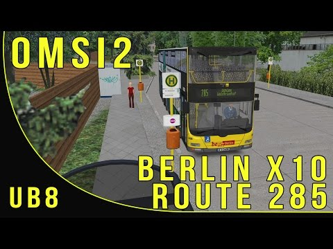 Omsi 2 - Berlin x10.. Route 285 - Wupperstr to Am Waldfriedhof Terminus