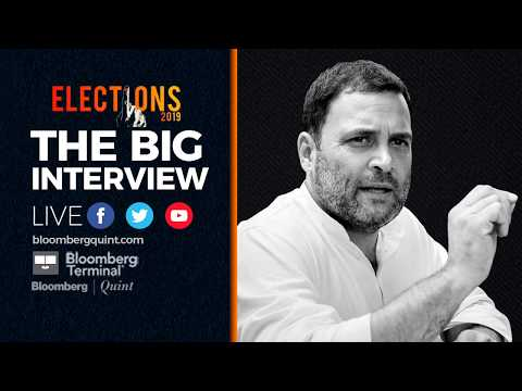 Coming Up: The Big Interview With Congress President Rahul Gandhi