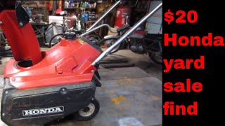 Will it Run? old neglected Honda snowblower