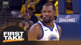First Take reacts to Kevin Durant and CJ McCollum's twitter beef | First Take | ESPN
