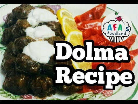 Dolma. Azerbaijani cuisine. Stuffed Grape Leaves. Yarpag dolmasi I Afa