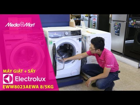 Máy giặt 8kg + Sấy 5kg Electrolux EWW8023AEWA – Nhỏ gọn, tiện lợi