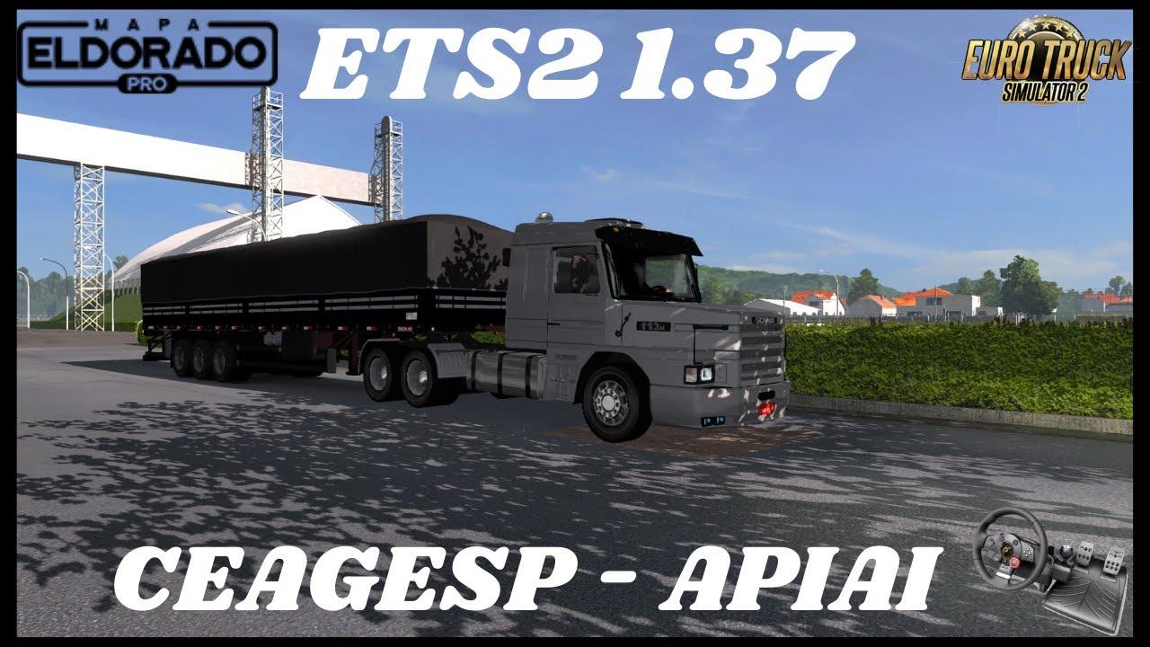 ETS2 1.37 / SCANIA 113 LS MODS / CEAGESP ATÉ APIAI / DRIVING FORCE GT
