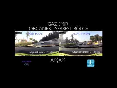 Travel time reduction in Izmir city, Turkey - EVENING TRAFFIC