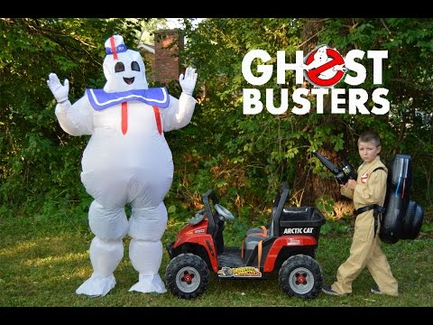 GHOSTBUSTERS + real life Kid Ghostbuster Hunt YouTube Funny Kids Video