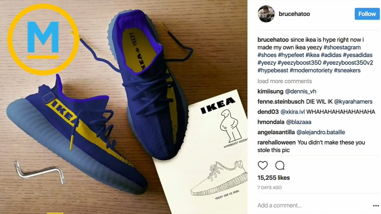 0bb2ebf9e60f3 Yeezy Sneakers  Ikea Edition