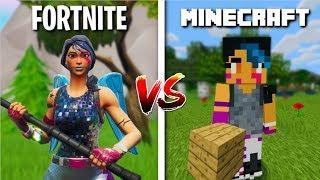Fortnite Building Techniques VS Minecraft Building Techniques!
